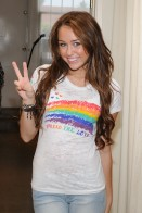 Miley Cyrus goes shopping at Intuition